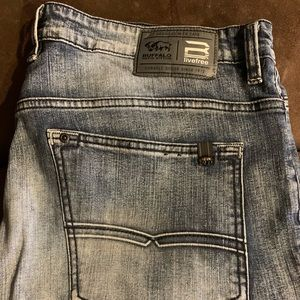 Buffalo David Bitton slim straight stretch jeans.
